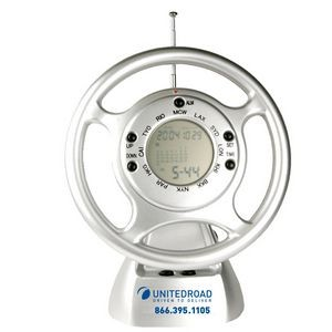 Steering Wheel Clock Radio-SILVER